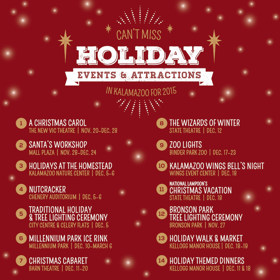 Christmas Programs Kalamazoo Area 2020 14 Can't Miss Holiday Events & Attractions In Kalamazoo   Discover