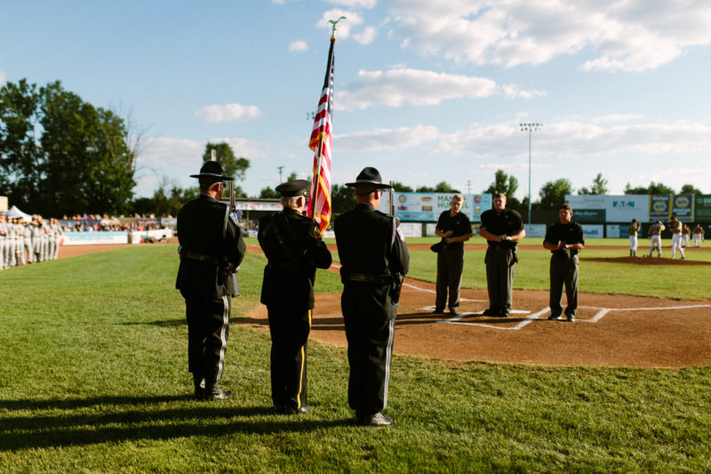 Hero Salute Night at the Kalamazoo Growlers